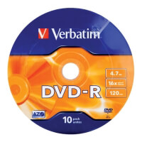verbatim 43729 47gb x16 matt silver wrap dvd r 10pcs spindle photo