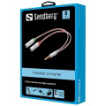 sandberg headset converter dual single jack extra photo 1