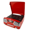 camry cr1134r turntable with cd mp3 usb sd recording red extra photo 2