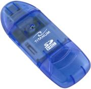esperanza ta101b titanum sdhc card reader usb 20 blue photo