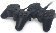 gembird jpd udv2 01 double usb dual vibration gamepad