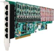 openvox a2410p60 24 port analog pci card 6 fxs400 modules photo