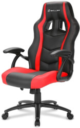 sharkoon skiller sgs1 gaming seat black red
