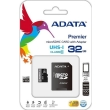 adata premier 32gb micro sdhc uhs i class 10 retail with adapter photo